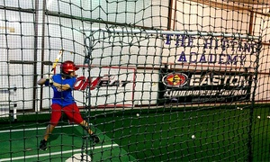 The Hitting Academy: Two Batting Cage Sessions, Two 30-Minute Private Lessons, or Both at The Hitting Academy (Up to 55% Off)