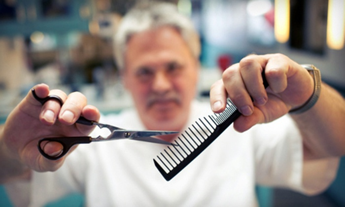 The Vintage Barber Shop - Downtown,Edgemont: One or Three Men's Haircut Packages with Straight-Razor Shave and Steam Towel at The Vintage Barber Shop (Up to 59% Off)