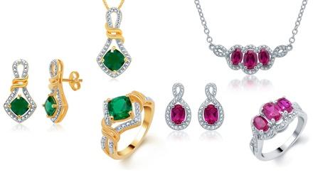 Gemstone and Diamond 3-Piece Jewelry Sets