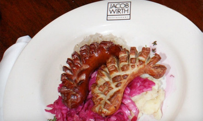 Jacob Wirth - Boston: $8 for $20 Worth of German Fare and Drinks at Jacob Wirth