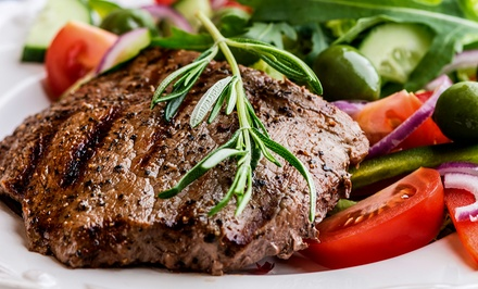 Breakfast, Lunch, or Dinner for Two Takeout Steak-House Food from Ellsworth Steak House (Up to 56% Off)