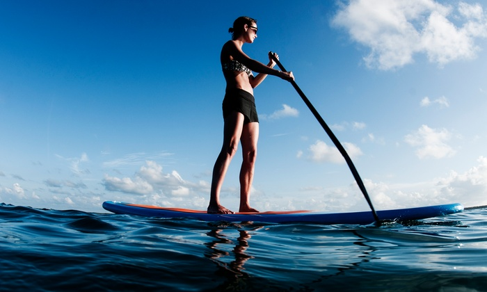 Flat Tide - Mustang: Two-Hour Standup-Paddleboard Rental for One or Two at Flat Tide (50% Off)