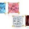 Princess-Cut Birthstone Stud Earrings made with Swarovski Elements