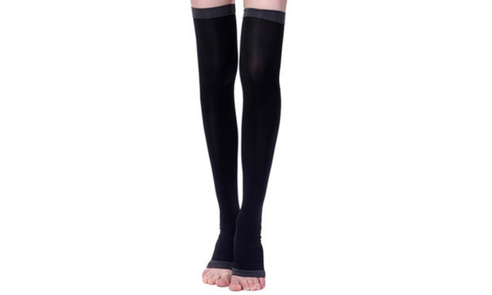 37e8173120 Thigh-High Compression and Detox Socks | Groupon