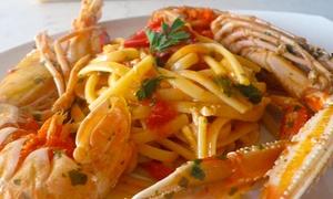 Al Ventaglio Ristorante Pizzerìa: Menu di mare con 4 portate, birra o vino per 2 o 4 persone (sconto fino a 65%)