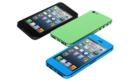 3-Pack of Xtreme Fashion Screen Protectors with Matching Skins for iPhone 5