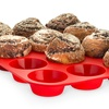 12-Cup Non-Stick Silicone Cupcake and Muffin Baking Tray (Set of 2)