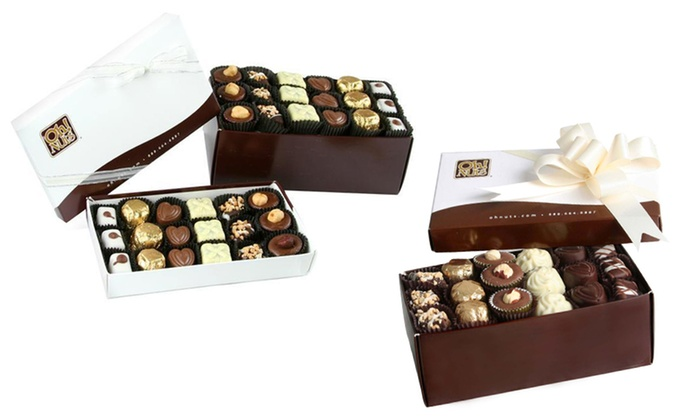 Oh! Nuts Chocolate Truffles: 18- or 36-Piece Oh! Nuts Chocolate Truffle Gift Boxes from $18.99–$24.99. Free Shipping.