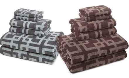 Vicki Payne 6-Piece Jacquard Towel Set. Multiple Colors Available.
