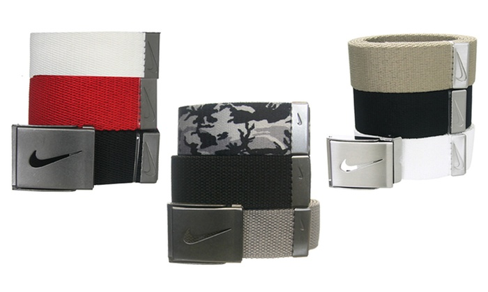 Amado Promesa reinado  Nike Golf Men's 3-in-1 Web Pack Belts (3-Pack) | Groupon