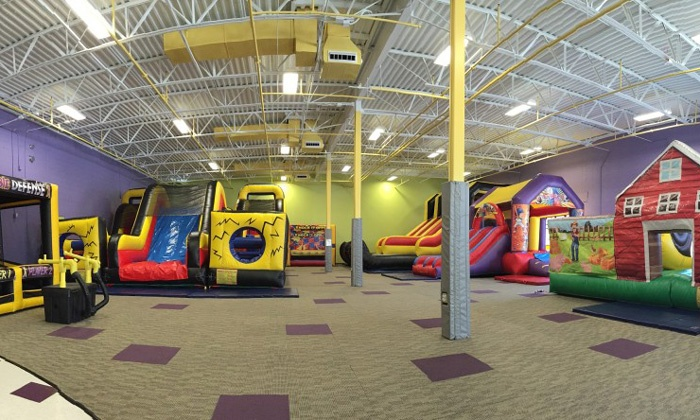 Jumpin' Jojo's Open Bounce and Party Center  - Jumpin' Jojo's: Open Play Pass for Two or Four at Jumpin' Jojo's Open Bounce and Party Center (Up to 47% Off)