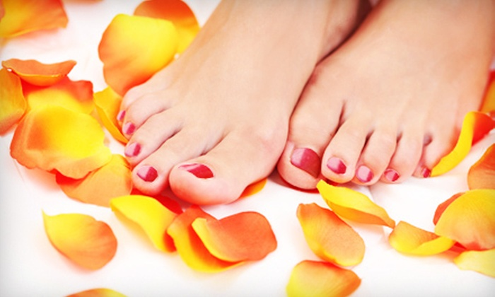 Harbor Nails And Spa - Destin Harbor: $25 for a Deluxe Mani-Pedi with Wine at Harbor Nails And Spa ($65 Value)