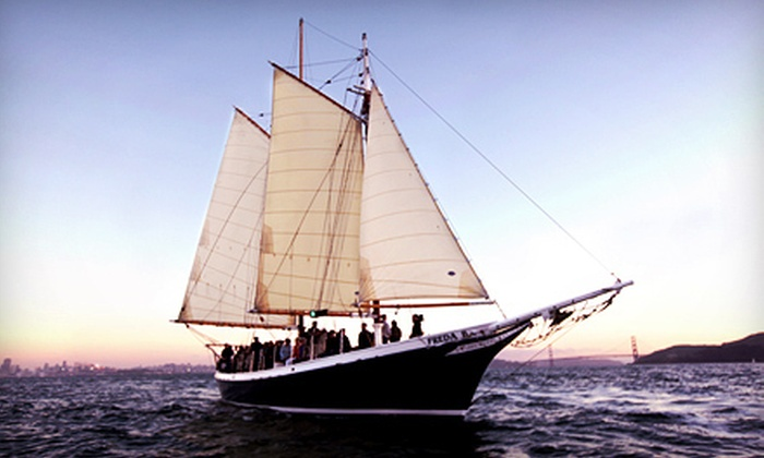 SF Bay Adventures - Freda B: $32 for a Two-Hour Local-History and Bay-Wildlife Sailing Tour from SF Bay Adventures ($65 Value)