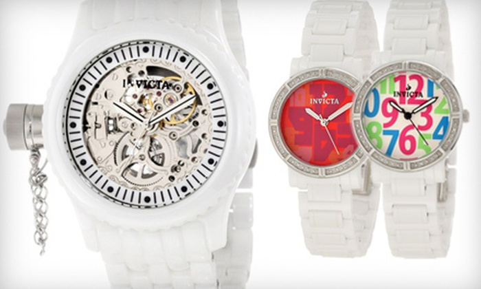 Invicta Ceramic Watches: $99 for an Invicta Women's or Unisex Ceramic Watch (Up to $1,495 List Price). Free Shipping. Multiple Styles Available.