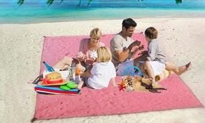 1 ou 2 tapis de plage anti-sable de 150x200 ou 200x200 cm
