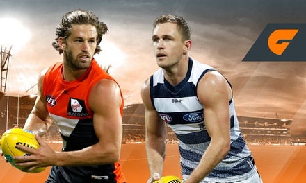 GIANTS v Geelong Cats at Spotless Stadium $50 for Four General Admission Tickets 1 July Up to $96 value
