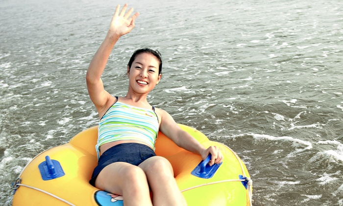 Chuck's Tubes - Downtown New Braunfels: River Tubing with Tubes, Cooler Tube, and Re-rides for Two, Four, Six, or Eight at Chuck's Tubes (Up to 54% Off)