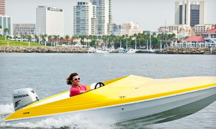 Long Beach Boat Rentals - Downtown Long Beach: One-Hour Rental of a 21-Foot Electric Boat or 17- or 19-Foot Powerboat from Long Beach Boat Rentals (Half Off)