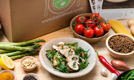 One or Two Weeks of Delivery of Subscription CookatHome Meals for Two or Four from HelloFresh (Up to 57% Off)