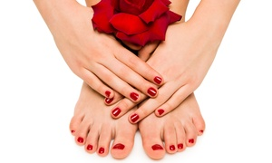 The Colored Nail: Shellac Manicure, Pedicure, or Both at The Colored Nail (Up to 58% Off)