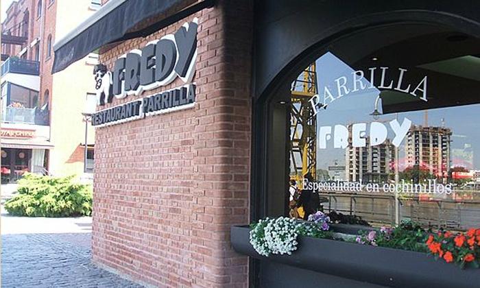 Fredy Parrilla Restaurant Puerto Madero - Fredy Parrilla Restaurant Puerto Madero: Desde $239 en vez de $650 por cena o almuerzo para 2 o 4: parrillada + postre + champagne en Fredy Parrilla Restaurant