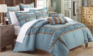 7-piece Contemporary Design Comforter Sets