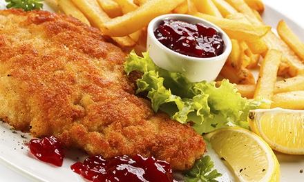 3-Gänge-Menü mit Flammkuchen und Schnitzel oder Dorade für Zwei im Restaurant Filmbühne am Steinplatz für 34,90 €