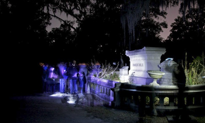 Bonaventure Cemetery After Hours - Thunderbolt: After-Hours Tour of Bonaventure Cemetery for One or Two from Shannon Scott Tours (Up to 53% Off)
