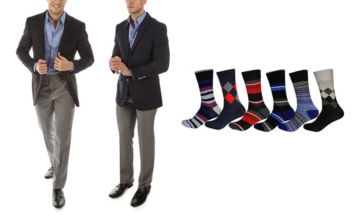 Alberto Cardinali Men's Tailored-Fit Sports Blazer with Free Pair of Socks (2-Piece)