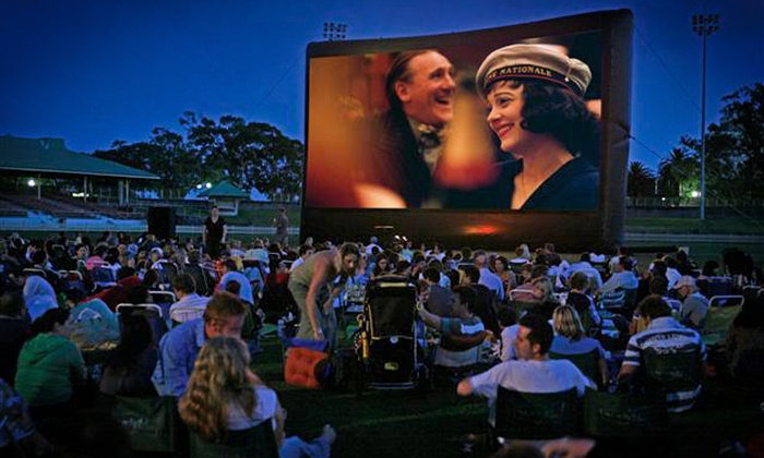 SkyFlicks - Midtown: Outdoor Movie Screen Rental Package from SkyFlicks (Up to 50% Off). Two Options Available.