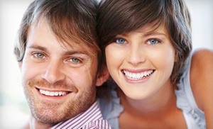 Calm Dental: Dental Exam Package with Teeth Whitening or Cleaning at Calm Dental (Up to 89% Off)