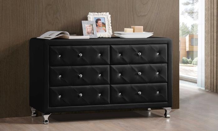 Stella Crystal Tufted Dresser Groupon Goods
