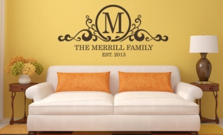 $10 for $25 Worth of Custom Vinyl Wall Decals from Lacy Bella Designs