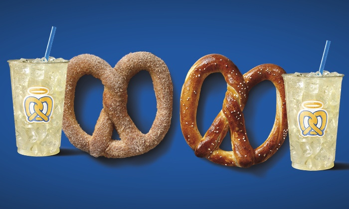 Auntie Anne's - Salem OR: Two or Four Pretzels and Old-Fashioned Lemonades at Auntie Anne's (Up to 50% Off). Two Options Available.
