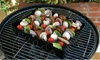 Non-Stick Kabob Rack with Six Skewers: Non-Stick Kabob Rack with Six Skewers