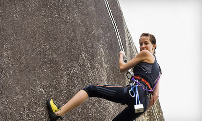Backcountry Adventure Guides - Mercer Island Park & Ride: Full Day of Rock Climbing with a Wine Tasting for One or Two from Backcountry Adventure Guides (Up to 53% Off)