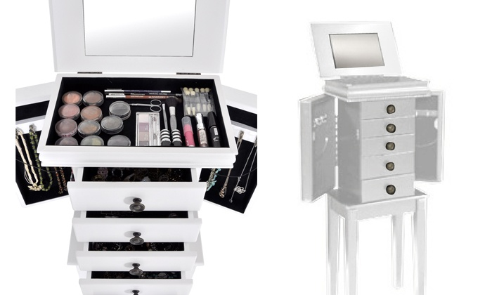 meuble rangement maquillage groupon shopping. Black Bedroom Furniture Sets. Home Design Ideas