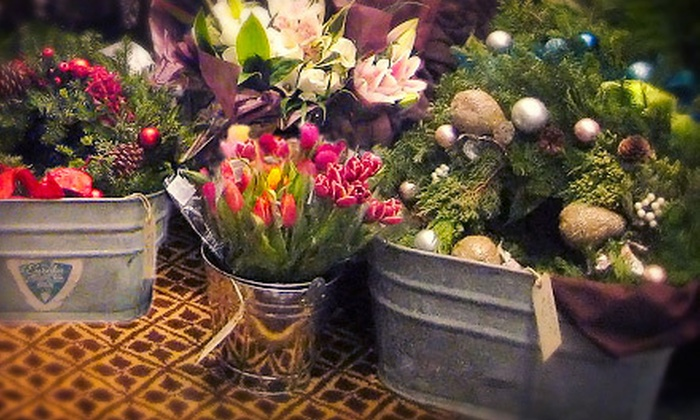 Flowers by Jenna: Large Customized Deco Wreath or Extra-Large Gourmet Gift Basket from Flowers by Jenna (Up to 55% Off)