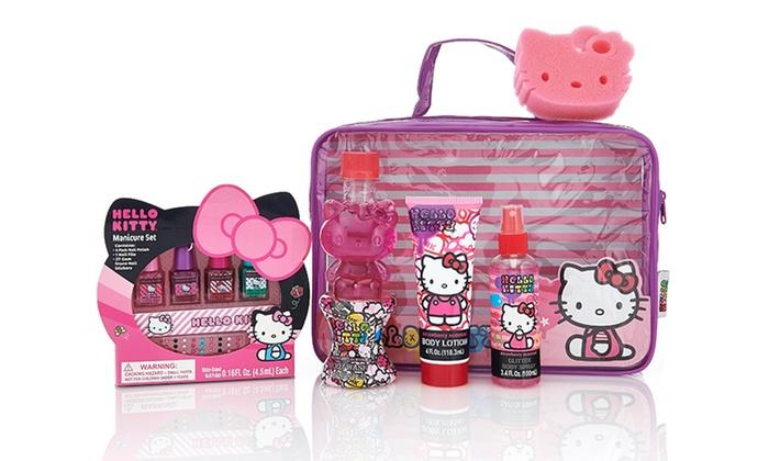 hello kitty bathroom set. Hello Kitty Grooming Kit  Bath and Manicure Groupon
