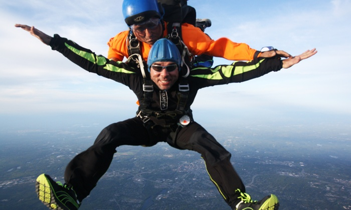 Skydive Pepperell - Southwest Nashua: $185 for an All-Inclusive Tandem Skydive Jump from Skydive Pepperell ($240 Value)