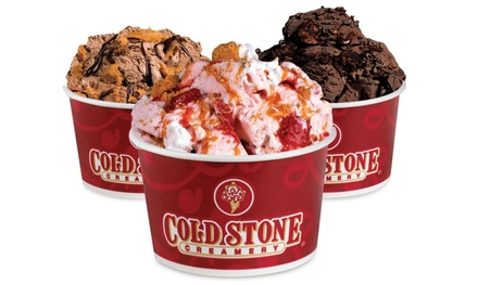 Ice Cream or Ice-Cream Cake at Cold Stone Creamery (Up to 37% Off). Three Options Available.