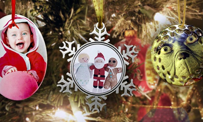 Customizable Ceramic or Pewter Ornaments from Picture It on Canvas: Customizable Ceramic or Pewter Ornaments from Picture It on Canvas Available from $9.99—$11.99. Free Shipping.