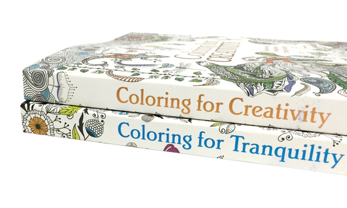 coloring for creativity and tranquility adult coloring book bundle groupon