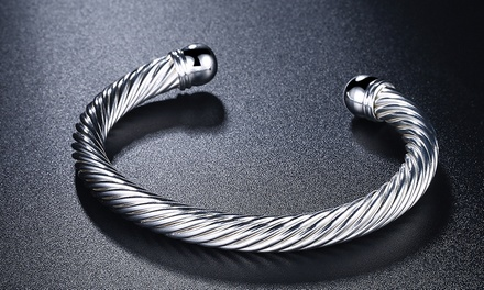 Sterling Silver Cleopatra Cuff-Bangle