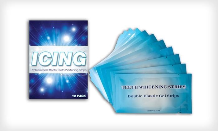Professional Effects Teeth Whitening Strips - 12 Count: $14.99 for a 12-Pack of Icing Teeth-Whitening Strips ($59 List Price)