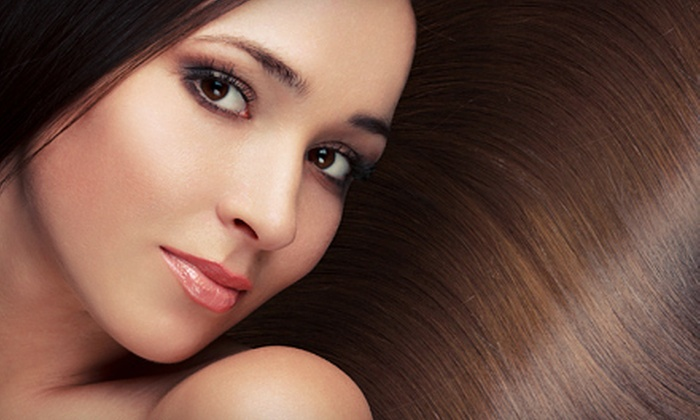Salon Indigo Aveda - Clinton Township: Women's Haircut Package, Hair-Smoothing Package, or Eyebrow or Lip Wax at Salon Indigo Aveda in Fraser (Up to 68% Off)