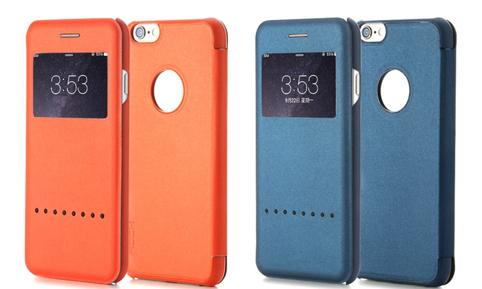 more photos 0abf0 ab96b Magnetic Flip Cover for iPhone | Groupon Goods