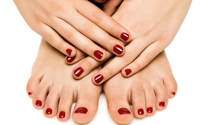 Bernice at Threaded Beauty Salon & Spa - Roseville : One or Three Gel Manicures and Glam Pedicures from Bernice at Threaded Beauty Salon & Spa (Up to 55% Off)