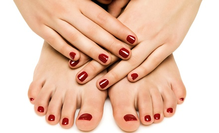 One or Three Gel Manicures and Glam Pedicures from Bernice at Threaded Beauty Salon & Spa (Up to 55% Off)
