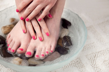 Basic or Spa Mani-Pedi at Eyecandi Spa & Fitness (Up to 51% Off)
